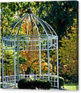 Autumn Gazebo Canvas Print