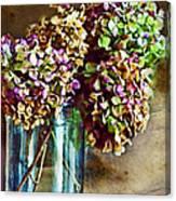 Autumn Hydrangeas Photoart Canvas Print