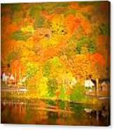 Autumn In Collinsville Connecticut  Canvas Print