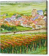 Autumn In Epernay In The Champagne Region Of France Canvas Print
