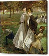 Autumn In Kensington Gardens Canvas Print