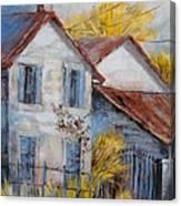 Autumn In La Garde Canvas Print
