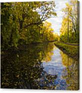 Autumn In Morrisville Pa Along The Delaware Canal Canvas Print