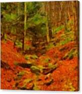 Autumn In Sproul State Forest Canvas Print