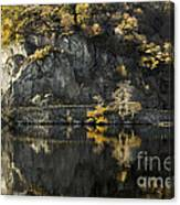 Autumn In The Lake Canvas Print