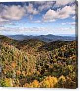Autumn In The Blue Ridge Mountains Canvas Print