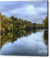 Autumn In The River Canvas Print