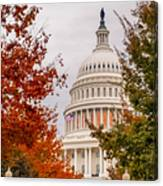 Autumn In The Us Capitol Canvas Print