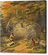 Autumn In West Canada Chippeway Indians Canvas Print
