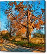 Autumn Lane Mpasto Canvas Print