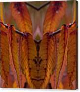 Autumn Leaves 03 Mirror Image Canvas Print