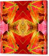 Autumn Leaves Mirrored Canvas Print