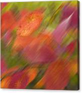 Autumn Leaves On The Abstract Background Canvas Print