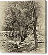 Autumn Mill 2 Antique Canvas Print