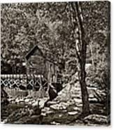 Autumn Mill 2 Sepia Canvas Print