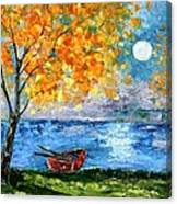 Autumn Moon Canvas Print