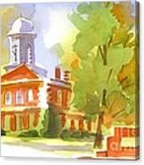 Autumn Observations Watercolor Canvas Print