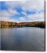 Autumn On Lake Plumbago Canvas Print
