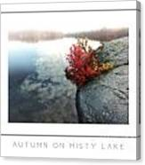 Autumn On Misty Lake Poster Canvas Print