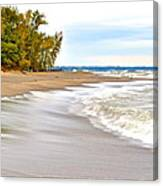 Autumn On The Beach Canvas Print