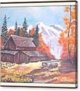 Autumn On The Farm. Canvas Print