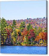 Autumn On The Fulton Chain Of Lakes In The Adirondacks Iv Canvas Print