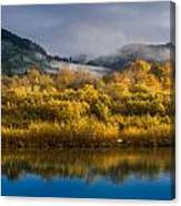 Autumn On The Klamath 1 Canvas Print