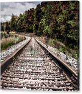 Autumn On The Railroad Tracks Canvas Print