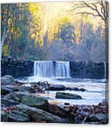 Autumn On The Wissahickon Waterfall Canvas Print