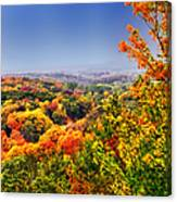 Autumn Over The Rolling Hills Canvas Print