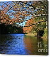 Autumn Paddle On The Quinnebaug  Canvas Print