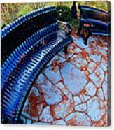 Autumn Park Benches Canvas Print