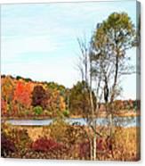 Mendon Ponds In Autumn Canvas Print