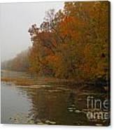 Long Lake In Autumn Canvas Print
