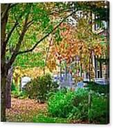 Autumn Porch Canvas Print