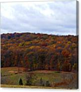 Autumn Postcard From Valley Forge Canvas Print