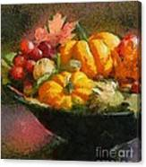 Autumn Pumpkins Canvas Print