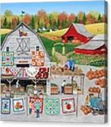 Autumn Quilts Canvas Print
