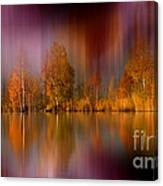 Autumn Reflection Digital Photo Art Canvas Print