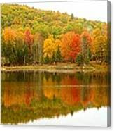 Autumn Reflection Panoramic View Canvas Print