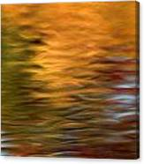 Autumn Reflections In Pond Canvas Print