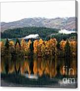 Autumn Reflections On Loch Ard  Canvas Print