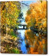 Autumn Reflections On A Friday Afternoon Canvas Print