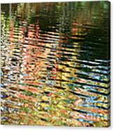 Autumn River Water Reflections  Canvas Print