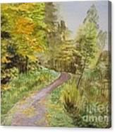 Autumn Riverside Walk Version1 Canvas Print