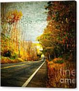 Autumn Road Connecticut Usa Canvas Print
