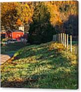 Autumn Road Morning Canvas Print