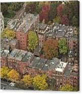 Autumn Rooftops Of Boston Canvas Print