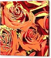 Autumn Roses On Your Wall Canvas Print