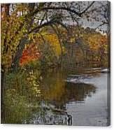 Autumn Scene Of The Flat River Canvas Print